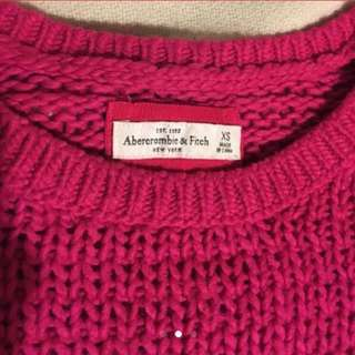 A&f pink sweater hollister f21