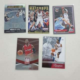 Legit Used Chris Paul Lot Set Of 10 NBA Cards