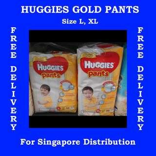 Huggies Gold Pants