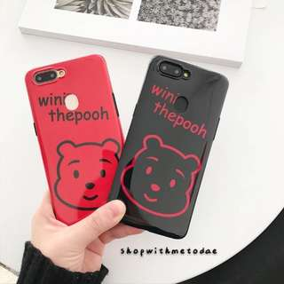 Winnie The Pooh Oppo R11 / R11S / R9S / Iphone X / 6S casing
