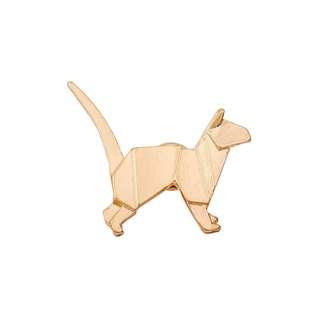 Origami cat (gold) pin - Binow Australia