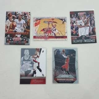 Legit Used Damian Lillard Lot Set Of 9 NBA Cards
