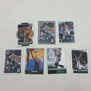 Legit Used Giannis Antetokounmpo Lot Set Of 7 NBA Cards