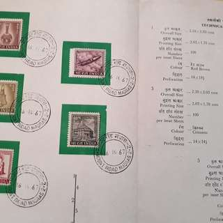 50 ALL DIFFERENT SET - india V.I.P Folder - All with Cancelled Stamp - mostly 1970's - inc. many RARE n SCARCE Varieties