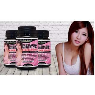 BUST BREASTS ENLARGEMENT UPSIZE 1 - 3 CUPS + BOOST LIBIDO + MENOPAUSE HELP + HEALTHIER HAIR / SKIN - TRANS CAN USE TOO