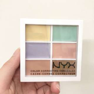 NYX 六色遮瑕盤 COLOR CORRECTING CONCEALER 校色遮瑕盤