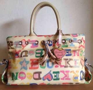 Original Dooney and Bourke Graffiti Tassel Satchel Bag not Coach Spade Kors