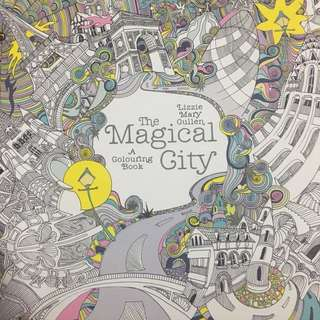 Used Adult Colouring Book - Magical City