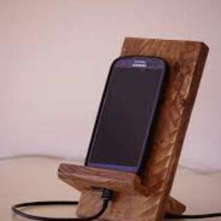Wooden Phone Stand Rustic ( Open Order) BY ELMA WOODCRAfX