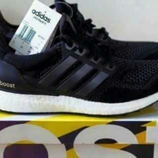 Adidas ultraboost core black For men and women.  Men sizes:41-46euro Women sizes:36-40euro
