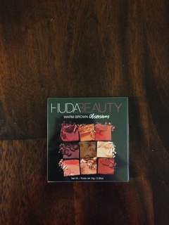 Huda beauty obsession pallet warm brown