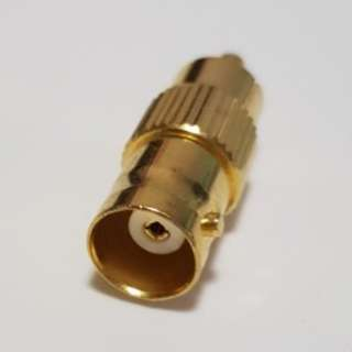 Audio (female) connector connector to BNC connector gold