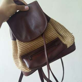 Small Woven backpack