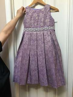 Lilac with gold detailing dress