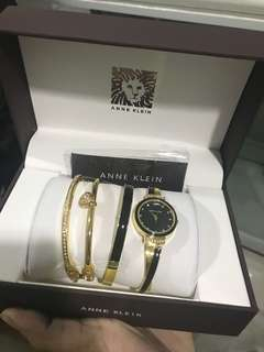 Authentic Anne Klein Watch and Bangles Set
