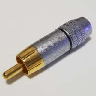 Audio connector female plug gold