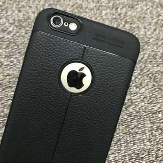 包郵iphone7/8黑色超薄皮套手機殼 case