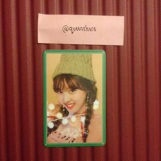 TWICE MERRY & HAPPY NAYEON OFFICIAL PHOTOCARD
