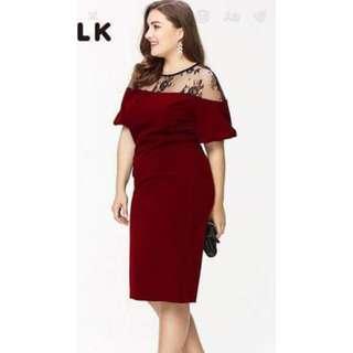 👉🏻🎀Plus Size Korean Dress