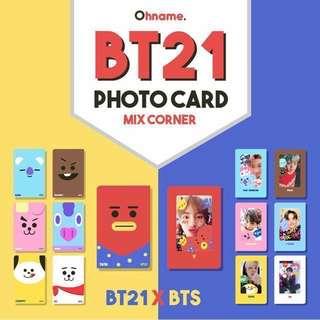BT21 x BTS Photocard Mixcorner
