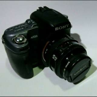 Sony A550 DSLR A-Mount With Minolta AF 35-70mm Macro