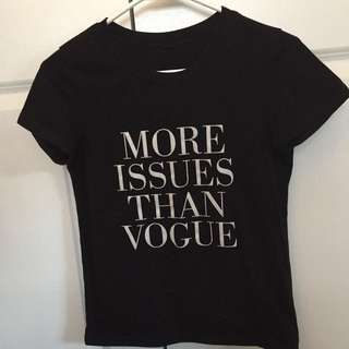 T shirt - xs - more issues than vogue