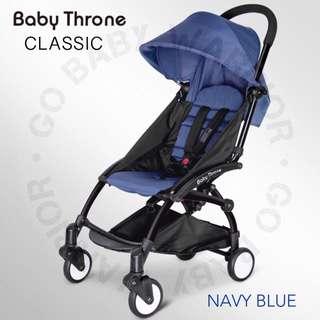 BABY THRONE CLASSIC BLACK FRAME - NAVY BLUE