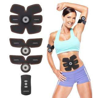(NEWEST) Hompo Electrical Muscle Stimulator Abs Trainer Body Fitness Training Slim Massager Machine SIXPAD