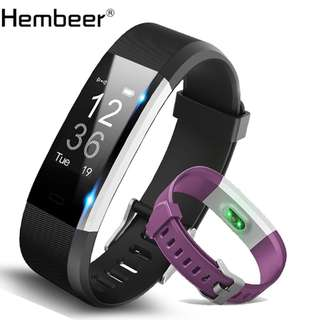 Smart Band Bracelet GPS Fitness Tracker Watches Band Heart Rate Monitor Step Counter Alarm Clock Wristband