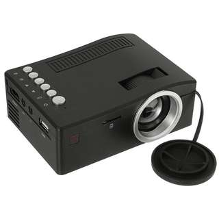Mini Portable Projector with USB TF Card AV Cable LED Projector for Home Theater Cinema