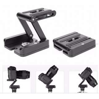 270 Degree Rotating Tripod Head Folded Z Shape Pan/Tilt Ball head Plate Tripod Adapter Mount for Cameras & Camcorders