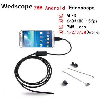 6 LED USB Waterproof Android Wired Endoscope Tube Snake Camera