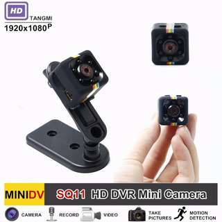 Premium HD 1080P SQ11 Mini Camera Night Vision Micro Camcorder Sports Outdoor DV Voice Video Recorder Action Cam - Spy Cam
