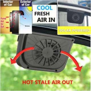 2 x Solar Car Fan