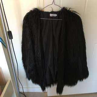 Lioness black faux fur jacket