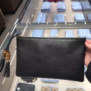 Authentic Gucci Borsa Calf Leather Clutch