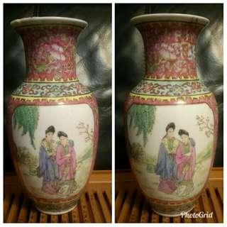 高26cm5-60年代粉彩瓶(有次)