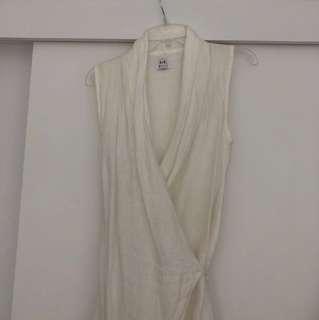 Sir the label white linen wrap dress 0