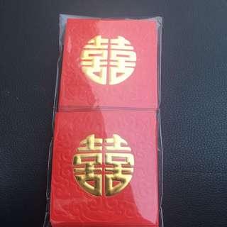 Red packets wedding 囍 雙喜 利是封 結婚 新娘