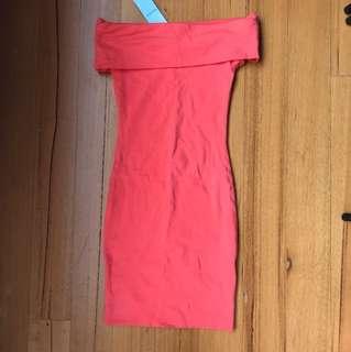 Kookai Marmalade Off shoulder dress