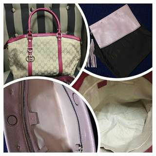 Authentic Grade Gucci Tote and Clutch Bag