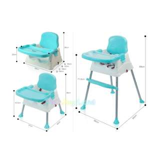 3 in 1 Baby Feeding High Chair/Booster Seat