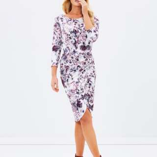 Forcast Chloe Floral Twist Dress Sz 8