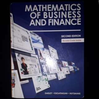 Mathematics of business and finance 2nd edition