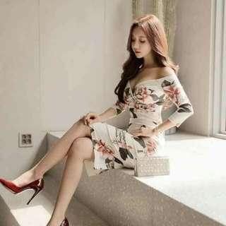 🌷offshoulder printed dress