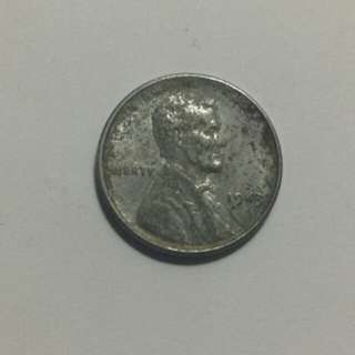 "1943 Lincoln 1 Steel/Wheat Penny (War Time) ""Rare"""