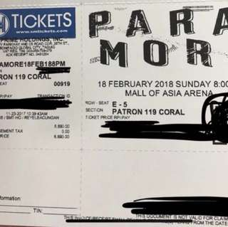 Swap: Patron to Lower Box A ticket Paramore Tour Four