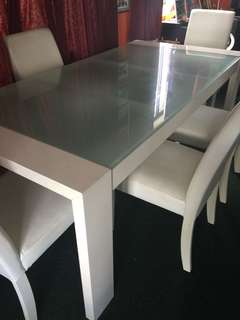 White Dining Table & Chairs