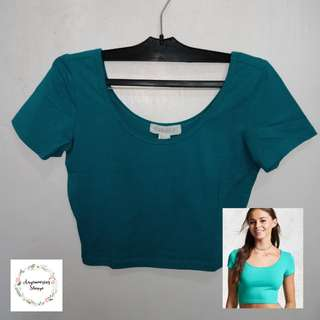 Forever21 Mint green Crop Top