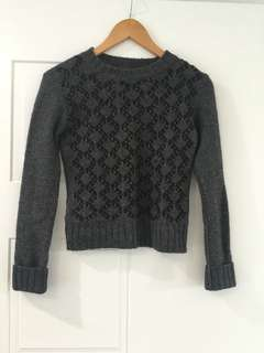 CR Dark Grey Sweater - Alpaca Wool blend